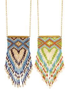 Peyote Stitch Fringe Necklace