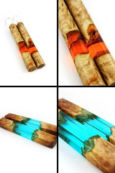 Boho Jewelry Handmade from Wood and Epoxy Resin #boho #resin #jewelry