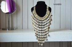 African Tribal Cowrie Shells necklace by naheri - Mid-long necklaces - Afrikrea Cowrie Shell Necklace, Seashell Necklace, Shell Jewelry, Shell Necklaces, Tribal Jewelry, Handmade Necklaces, Long Necklaces, Collar Necklace, Turquoise Jewelry