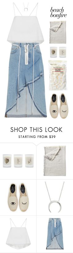 """""""*1801"""" by cutekawaiiandgoodlooking ❤ liked on Polyvore featuring Elizabeth Scarlett, Muji, Serena & Lily, Soludos, A.L.C., Off-White and beachbonfire"""