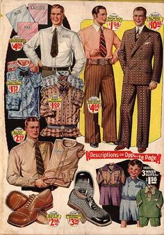 Men from the 20's look like men from the 70's- without polyester