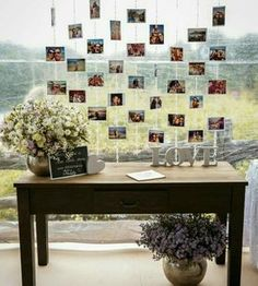 Find everything you need to make your wedding decorations beautiful! Decorations for a rustic wedding. Decorations for a country wedding. Decorations ideas for a rustic chic wedding. Diy Wedding, Dream Wedding, Wedding Day, Wedding Rustic, Pallet Wedding, Trendy Wedding, Wedding Simple, Perfect Wedding, Photo Displays