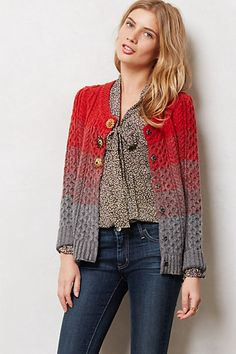 SLEEPING ON SNOW Marled Colorblock Cardigan #anthropologie ~~ **Back view gorgeous, follow link to see