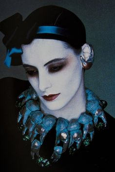 Serge Lutens french photograph and perfume designer  model Ines de La Fressange