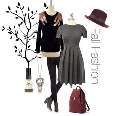 Fall Fashion...love the dress!! <3