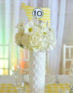 WeddingChannel Galleries: White and Yellow Reception Centerpieces