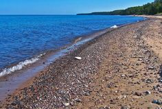 Agate Beach on Lake Superior Agate Beach on Lake Superior Michigan Vacations, Michigan Travel, Lake Michigan, Wisconsin, Michigan Accent, Vacation Places, Vacation Spots, Places To Travel, Places To See
