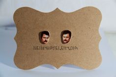Ron Swanson Stud Earrings  gift idea cool by TheFoxyHipster