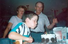 If he couldn't blow out the candles, his father was always there to back him up. (submitted by Christina)