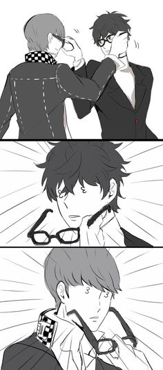 persona 5: it's all in the glasses ;)