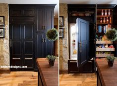 black kitchen cabinets with hickory | and Timeless Heirloom Black Luxury Kitchen on Long Island | Kitchen ...