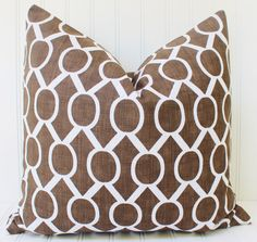 Brown Pillow.Decorative Pillow Cover.Throw by MariaClaireInteriors