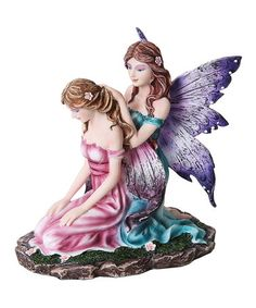 Another great find on #zulily! Purple Fairy Sisters Figurine #zulilyfinds