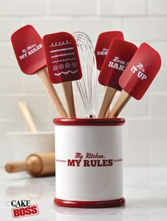Cake Boss Ceramic Tool Crock