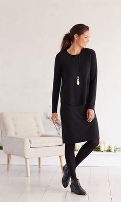 Pure Jill soft knit tiered dress