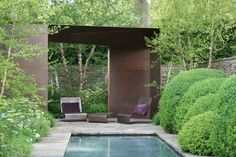 Love this pared back architecture pavilion with lush green - tom stuart smith