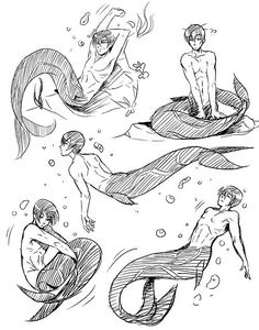 Free! Haru mermaid (I use this for reference and you can too!)