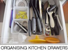 Organising the kitchen cupboards on The Organised Housewife
