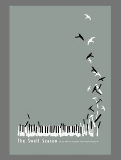 design Music takes flight. Minimal poster design - but so creative! Colour completely toned right down - just black, white and grey. Collage Poster, Jazz Poster, Gig Poster, Poster Design, Graphic Design, Flyer Design, Poema Visual, Grateful Dead Music, Plakat Design