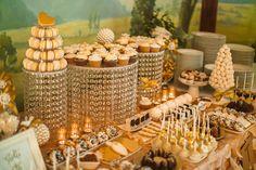 wedding dessert table, romantic, elegant, castle Wedding Desserts, Wedding Decorations, Table Decorations, Wedding Gold, Dessert Table, Castle, Bows, Romantic, Elegant