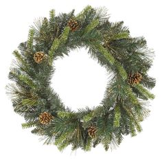 30 in.Tip Mixed Pine Wreath 150 Tips-Double Ring. Color : Tt Green with Ant. Tip, Gold Tip Cones Lawn And Garden, Home And Garden, Artificial Christmas Wreaths, Gold Tips, Christmas Items, Ladies Boutique, Beautiful Christmas, Pet Birds, Gold Glitter