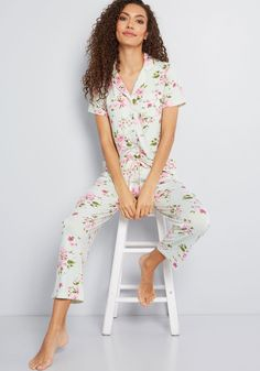 Rest on the Agenda Pajamas in XL - Short Sleeves Button Down Pink Satin 50956a7ea