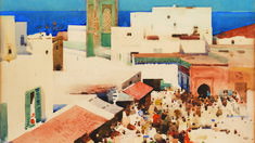 Image result for scottish colorists About the Exhibition − Arthur Melville − On Now & Coming Soon − Exhibitions − What's On − National Galleries of Scotland www.nationalgalleries.org600 × 337Search by image wondrous intensity of colour shown in The Sapphire Sea. He also visited Venice in 1894 – embracing the city by night – and twice went to Tangier, where he painted the city's clamour and tumult.