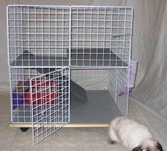 Bunny Mini Condo Indoor Rabbit Cage Hutch Pet Pen | eBay