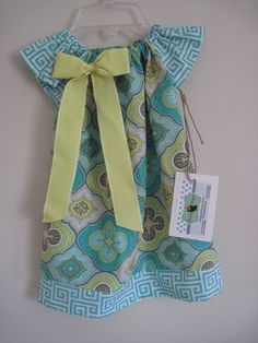 Paisley Green and Yellow Children's Dress with by OooLaLaDesigns, $25.00