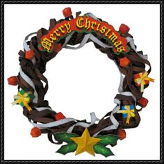Canon Papercraft - Pop Ivy Christmas Wreath Free Template Download