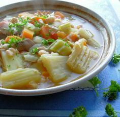 Tasty Chicken & Fennel Soup in a Crock Pot