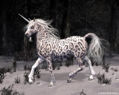 Snow Leopard Unicorn