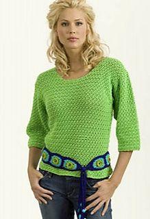 lime pullover & belt