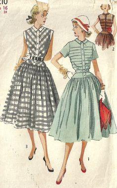 Vintage 50 s Sewing Pattern simplicité 4210 par studioGpatterns