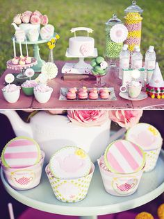 Girlie  Modern Tea Party...Great for..Mother's Day, Baby Shower, Birthday Party, Bridal Shower, etc...