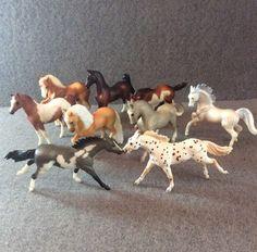 Breyer Horse Stablemates Lot of 9 Stallion Arabian Appaloosa Clydesdale American   eBay