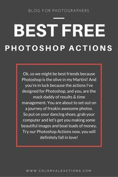 DOWNLOAD Best Free Photoshop Actions Today!