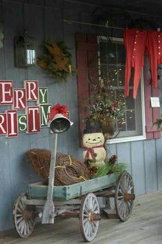 Prim Christmas Porch...