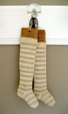 Rare Primitive Child's Socks with Forms  Antique by RedDressHanger, $125.00
