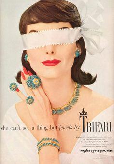 Trifari Ad, 1957