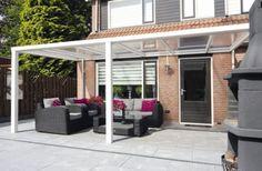 Terrassenüberdachung 400 x 300 cm Aluminium mit Polycarbonat-Platten ...