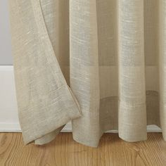 Shop for Archaeo Slub Textured Linen Blend Grommet Top Curtain. Get free delivery On EVERYTHING* Overstock - Your Online Home Decor Outlet Store! Cool Curtains, Beautiful Curtains, Hanging Curtains, Curtain Fabric, Curtain Rods, Window Curtains, Curtain Styles, Cozy Fashion, Window Panels