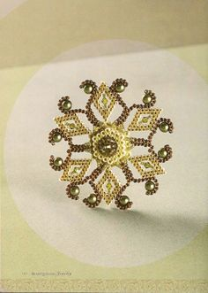 Winter Bloom pin tutorial  ~ Seed Bead Tutorials