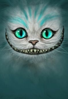 Cheshire Cat Face Wallpaper
