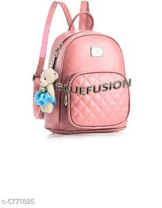 Backpacks TRENDY BACKPACK FOR GIRLS AND WOMENS Material: PU No. of Compartments: 2 Pattern: Solid Multipack: 1 Sizes: Free Size (Length Size: 15 in) Country of Origin: India Sizes Available: Free Size *Proof of Safe Delivery! Click to know on Safety Standards of Delivery Partners- https://ltl.sh/y_nZrAV3  Catalog Rating: ★3.9 (2573)  Catalog Name: Voguish Classy Women Backpacks CatalogID_868576 C73-SC1074 Code: 282-5771825-