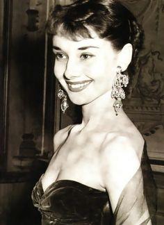 Audrey's perfect smile.