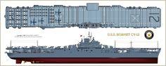 Modelismo militar e Historia: Portaaviones U. Uss Hornet Cv 12, Essex Class, Uss Intrepid, Uss Yorktown, Navy Aircraft Carrier, Imperial Japanese Navy, Naval History, Military Guns, United States Navy