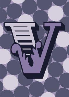 Letter V Art Print By Forhumourandhope Typography