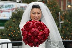 Swank Productions Plaza Wedding Red Peonies Bouquet 1 | Flickr - Photo Sharing!
