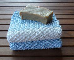 Lavette, strofinacci per lavarsi, set 2 panni in cotone fatto a mano di…